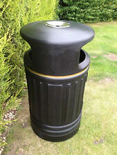 6 x Heritage Ryde Large Capacity Plastic Outdoor Litter Bin & ASHTRAY Brand NEW