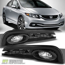 For 2013-2015 Honda Civic 4Dr Sedan Bumper Fog Lights Lamps w/ Switch Left+Right