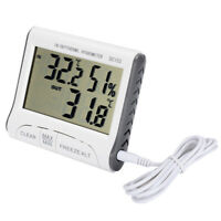 Digital LCD Indoor Outdoor Weather Thermometer Hygrometer Humidity Meter Kit Hot