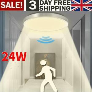 PIR Motion Sensor 24W LED Ceiling Light Panel Down Light Hallway Lamp Warm White