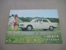 1966 PEUGEOT 404 Catalogue Brochure Prospekt Dépliant French