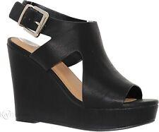 Delicious Women's Open Toe Ankle Strap Sandals, Black, 11 US