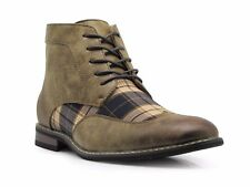 Men's Spectator Tweed Plaid Two Tone Wingtips Oxfords Chukka Boots Titan04