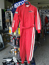 TUTA SPARCO AUTO OMOLOGATA FIA TAGLIA S RACING RALLY RACE SUIT SMALL S RED