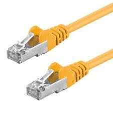 CAT.5e F/UTP Kabel 1m geschirmt gelb Patchkabel LAN DSL Netzwerkkabel