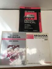 2001 Toyota Sequoia Oem Repair Manuals and Electrical Wiring Diagram Set of 3