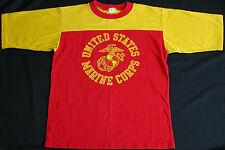 Rare Vtg Artex 70s 80s USMC United States Marine Corps Jersey T Shirt L Military