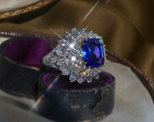 GIA PLATINUM BLUE SAPPHIRE UNHEATED DIAMOND RING 18K VINTAGE VS HUGE 12.23 CTS!