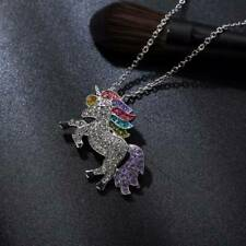 Unicorn Pendant Necklace Chain Flying Horse Kids Girls Jewellery Party Gifts LH
