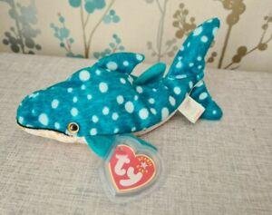 Poseidon the Whale Shark, TY Beanie Baby Blue Spotty