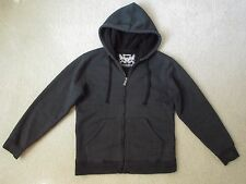 Machine Clothing Company Young Men Boy Black Striped Hoodie Fleece Jacket Size S