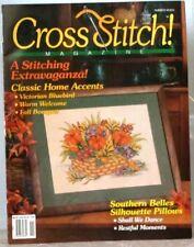 CROSS STITCH Magazine #7 Southern BELLES Victorian BLUEBIRD Silhouette PILLOWS