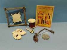 Dollhouse  Miniature  American Indian Artifacts Set with Corn Poster 1:12 scale