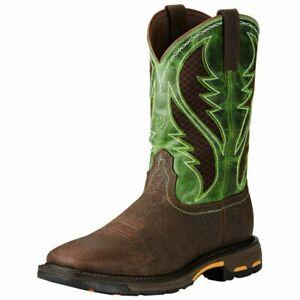 Ariat Mens WorkHog Venttek Composite Toe Work Safety Western Boots 10020084