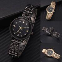 Women Starry Sky Dial Crystal Watch Stainless Steel Quartz Analog Wristwatch