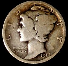 """1917-P  10C Mercury Dime 17lsu1808 90% Silver  """"Only 50 Cents for Shipping"""""""