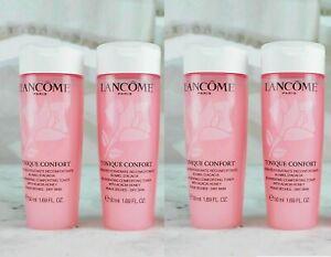 Lancome Tonique Confort Rehydrating Toner Dry Skin 1.69oz Travel Set x 4= 6.76oz