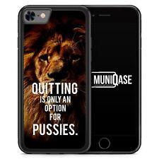 IPhone 8 GUSCIO IN SILICONE-quitting is only a opzione for fighette Leone-motivo de