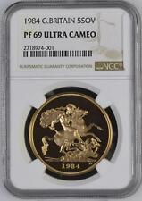 Great Britain 1984 Gold Proof 5 Sovereign NGC PF-69 Ultra Cameo