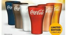 McDonald's coke glass whole set Red,silver,charcoal,blue, yellow and rose gold