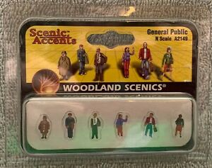 N Scale Woodland Scenics General Public A2149 People Standing / Pedestrians