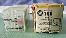 Allen Bradley 700-H232A Relay 700-H232A1 Type H, Ser A, 10A, 120VAC, 50/60HZ