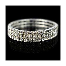 Diamond Stretch Women Bracelet Fashion Crystal Jewellery (Three Row)