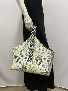Tory Burch Robinson Flower Purse Tote Carryall Very Large 1 Handle Very Roomy