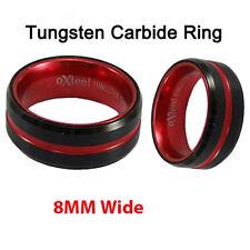 Tungsten Carbide rings rose gold black brushed Wedding Band Ring men's jewelry
