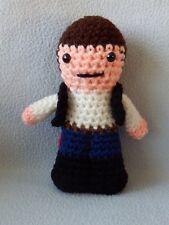 "Amigurumi Hand Crocheted Star Wars Han Solo Doll *New* 6"" doll"