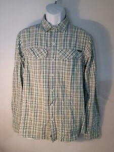 Columbia Women's Blue/Green Plaid Button Shirt S/P 00038