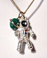 ASTRONAUT NECKLACE space man chain planet charm pendant astronomy science new L5