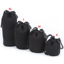 4PC Waterproof DSLR Canon Nikon Sony Camera Lens Bag Pouch Case Cover Padded New