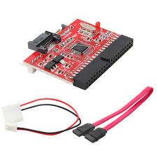3.5 IDE to SATA / SATA to IDE ATA100/133 HDD Converter Adapter + Cables PC Set