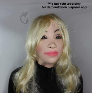 LATEX FEMALE MASK CROSS DRESS TRANSGENDER RUBBER DOLL FULL HEAD WOMAN LADY MASK