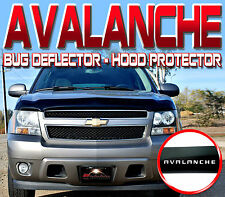 CHEVY AVALANCHE 2007-2013 BUG ROCK DEFLECTOR HOOD WINDSHIELD PROTECTOR with LOGO