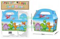 20 Boys Dinosaur Birthday Party Fun Treat Boxes Cupcake Favour Sweet Gift Box
