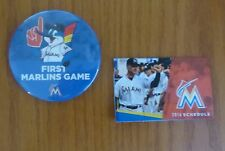 First Miami Marlins Game Button!Collectible Piece!!!