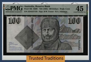 TT PK 48b 1985 AUSTRALIA RESERVE BANK 100 DOLLARS PMG 45 CHOICE EXTREMELY FINE!