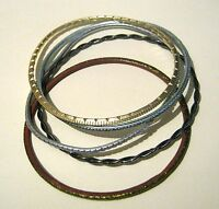 5x lovely bangle style bracelets in various styles and colours lovely mix