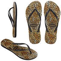 Havaianas Kids Slim Leopard Print Thong Summer Beach Holiday Flip Flops Sandals