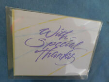 """20 Nip Vintage Blank Notes & Env. """"With Special Thanks"""" on the front"""