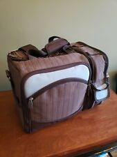 Picnic Time Malibu Cooler Picnic Basket Bag Insulated With Contents Plates Guc