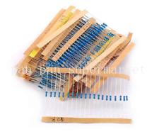 1Lot 64 values 1280pcs 1 ohm -10M ohm 1/4W Metal Film Resistors  Assortment Kit
