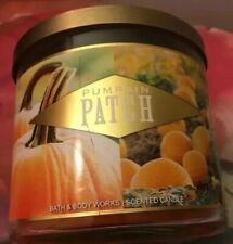 BATH AND & BODY WORKS PUMPKIN PATCH 3 WICK 14.5 OZ CANDLE