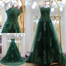 2019 Green Lace Wedding dress Bridal Gowns custom uk size 6-8-10-12-14-16-18+20+