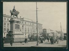 Italie, Naples, Le Grand Hotel de Londres, ca.1900, Vintage silver print Vintage