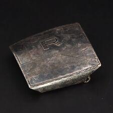 "New listing Vtg Sterling Silver - Hickok Letter ""R"" Initial Belt Buckle Damaged - 12g"