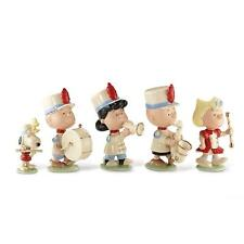 Lenox Peanuts Marching Band Figurines School Parade Charlie Brown Snoopy New