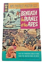 Vintage Beneath the Planet of the Apes  1970 Gold Key Comic w/ Poster attached